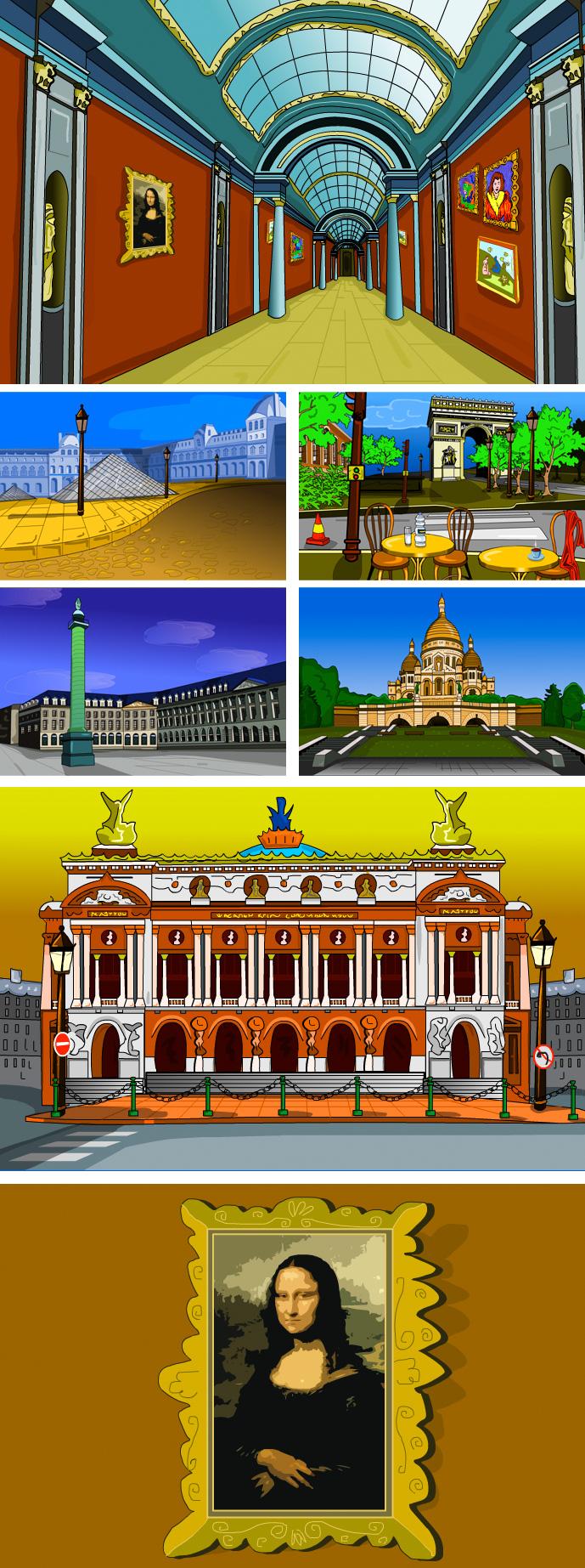 Flash Web Game / Paris